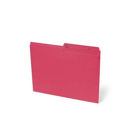 Chemise à dossier réversible Format lettre rouge