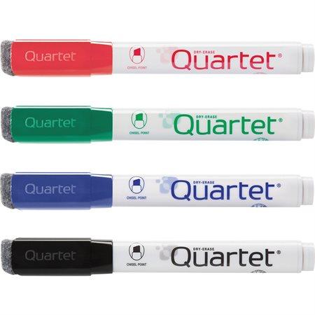 Marqueur effaçable à sec pour tableau blanc Quartet Paquet de 4 variées