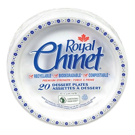 Assiettes Royal Chinet® 6-3 / 4 po. (pkg 20)