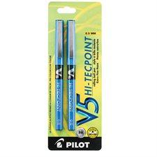 Stylos à bille roulante Hi-Tecpoint V5 / V7 0,5 mm. Paquet de 2. V5 bleu