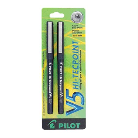 Hi-Tecpoint V5  /  V7 Rollerball Pens 0.5 mm. Package of 2. V5. black