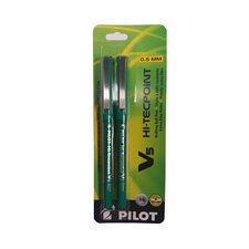 Stylos à bille roulante Hi-Tecpoint V5 / V7 0,5 mm. Paquet de 2. V5 vert