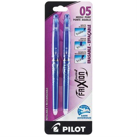 Stylos à bille roulante effaçable FriXion® Point Paquet de 2 bleu
