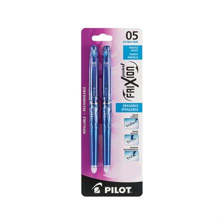 Stylo à bille roulante effaçable FriXion® Point Paquet de 2 bleu