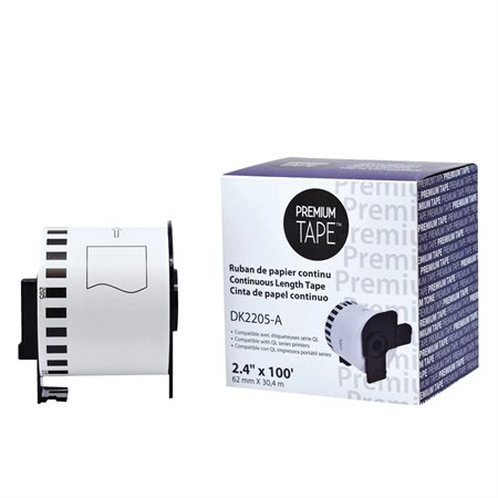 Continued compatible Paper Tape (Alternative  to Brother DK-2205 / 1201 / 1209)