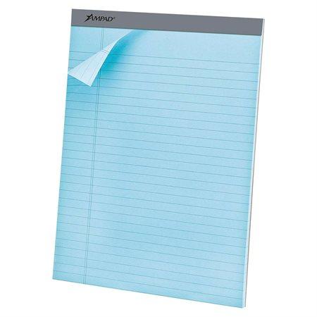 Bloc de papier perforé bleu pastel
