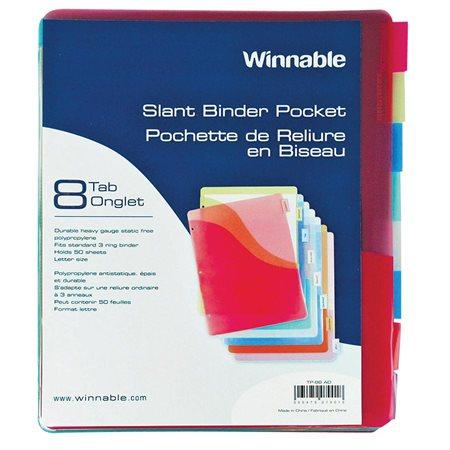 Slant Binder Pockets with Tabs