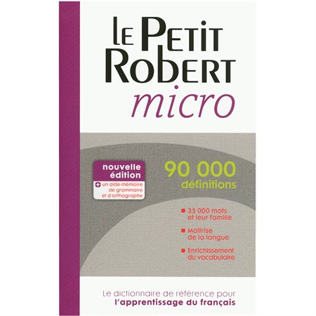 Le Petit Robert micro Dictionary