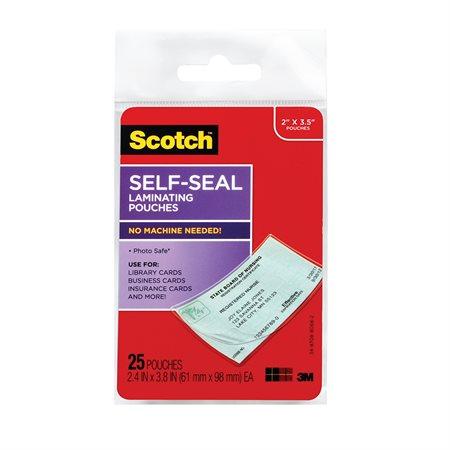Cartes de visite auto-plastifiées Scotch