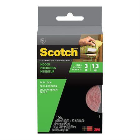 "Attaches refermables pour usage intérieur Scotch® 3 / 4 x 60"" blanc"