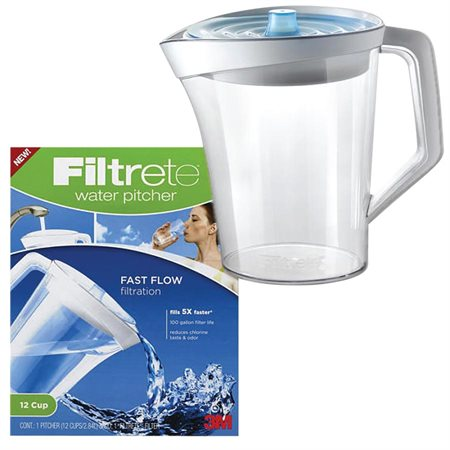 PITCHER WATER FILTRETE 12-CUP 2.84L