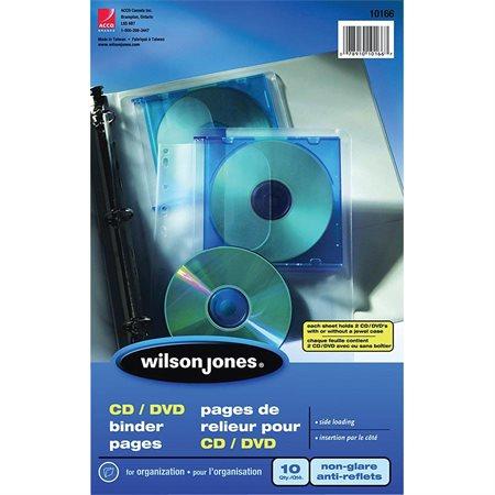 Pages de reliures pour CD  /  DVD