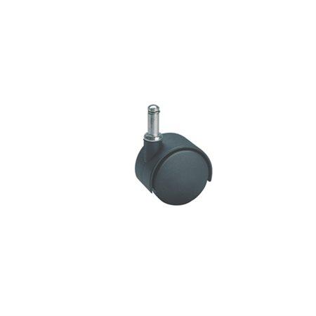 Roulette jumelée Pour tapis, noir. 2 po.