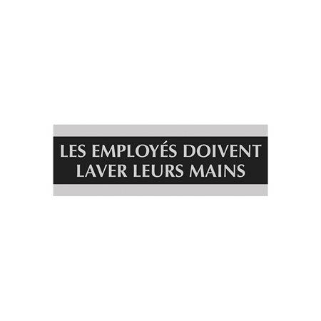 Enseigne d'identification Century français les employés doivent laver leurs mains