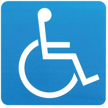 Enseigne symbole fauteuil roulant