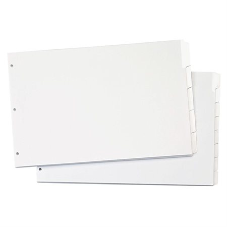 "Intercalaires Write 'n Erase® 11 x 17"" 8 onglets"