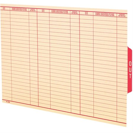 End Tab File Folder Out Guide