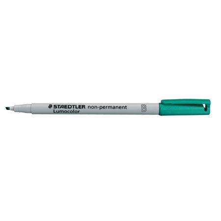Marqueur soluble à l'eau Lumocolor® Pointe biseautée, 1 ou 2,5 mm. vert