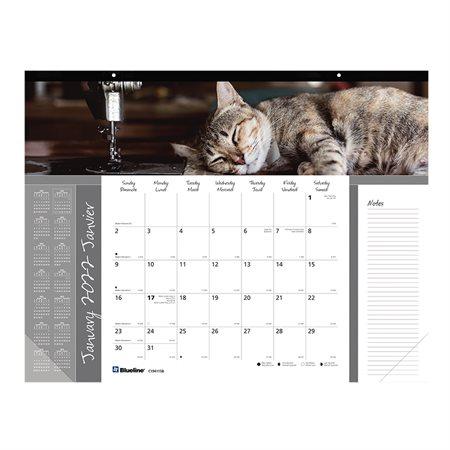 Calendrier sous-main mensuel (2021) chat
