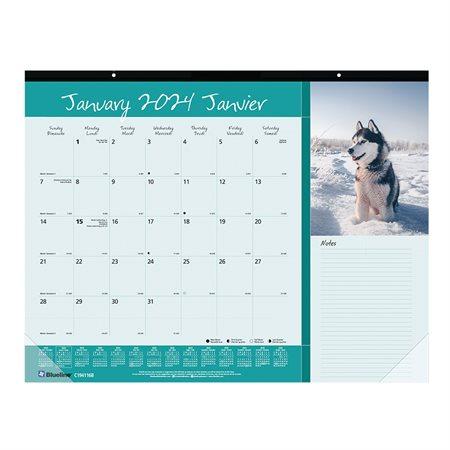 Calendrier sous-main mensuel (2021) chien