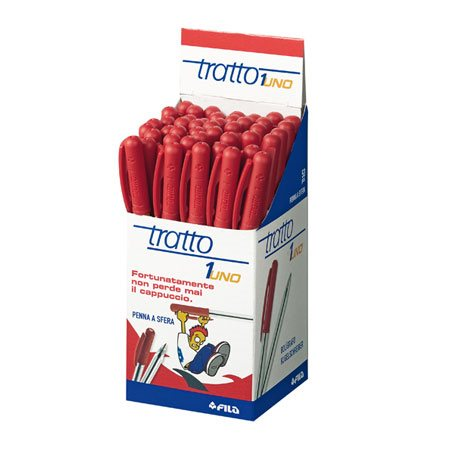 Stylo à bille rétractable Tratto-1 rouge