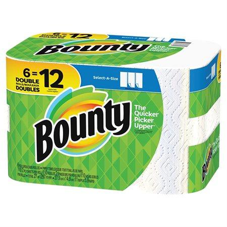Essuie-tout Bounty Sur mesure 6 rouleaux de 100 feuilles