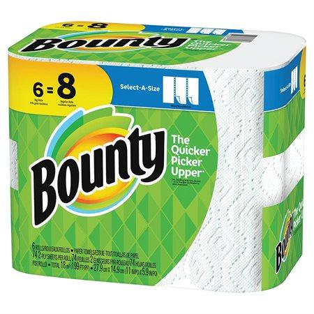 Essuie-tout Bounty Sur mesure 6 rouleaux de 74 feuilles