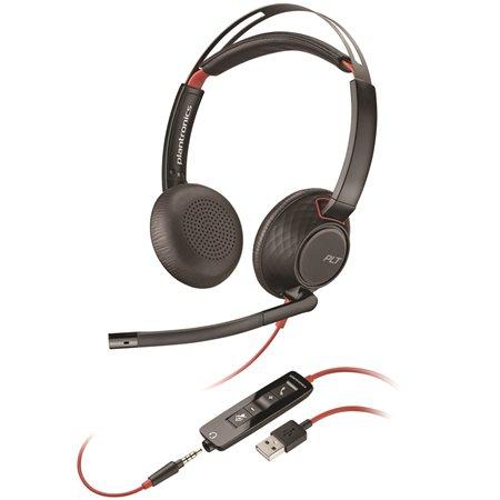 Casque téléphonique Blackwire 5200 Series C5220 - écouteur double