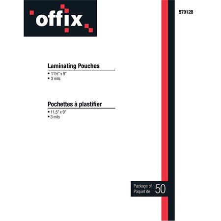 Pochettes à plastifier Offix® Épaisseur 3 mil pqt 50