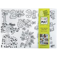 Napperon à colorier Funny Mat® nombres