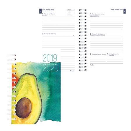 Agenda académique hebdomadaire mensuel aquarelle (2019-2020) avocat