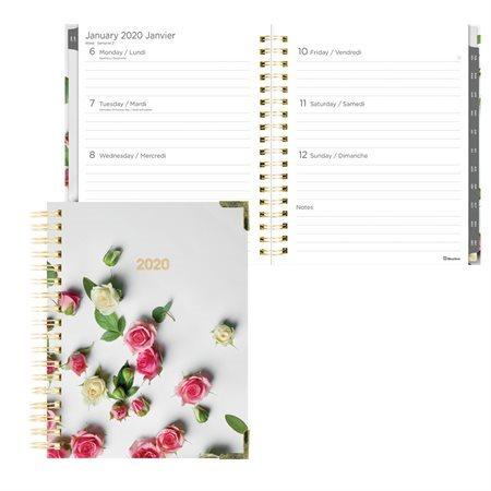 Agenda hebdomadaire / mensuel romantique (2020) roses