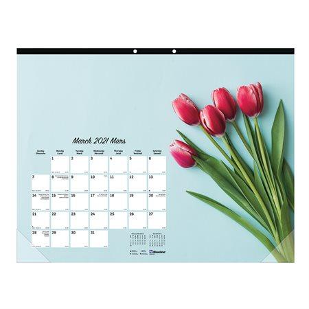 Calendrier sous-main mensuel Romantique (2021)