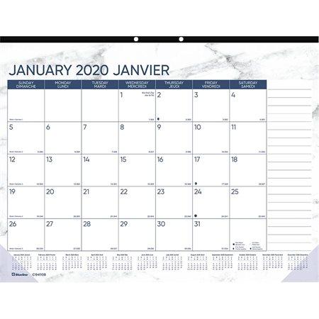 Calendrier sous-main mensuel Marbre (2020)