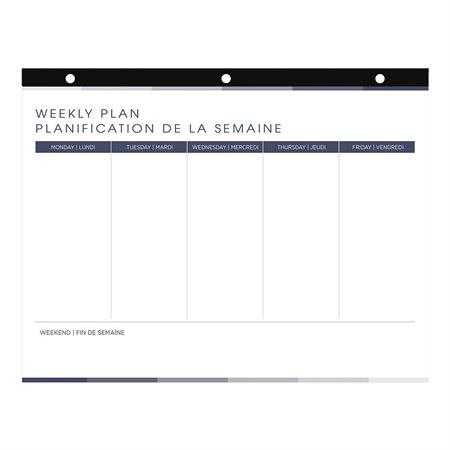 Undated Weekly Desk Pad Calendar