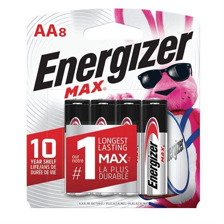 Piles alcalines Max AA paquet de 8