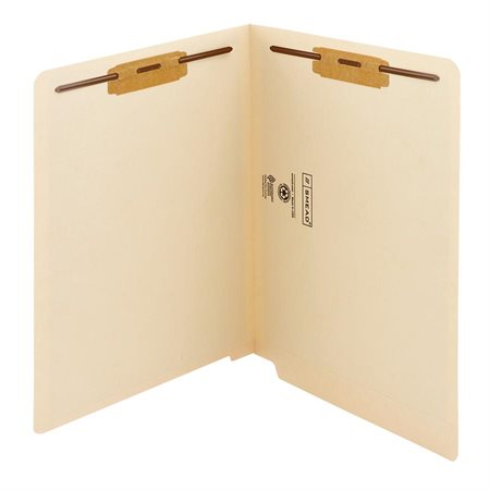 Antimicrobial End Tab File Folder with Fasteners