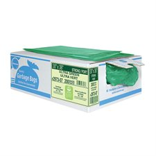 """2900 Series Ultra Industrial Garbage Bags Strong, 30 x 38"""". Box of 200. green"""