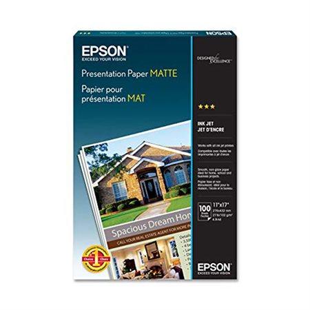 Papier photo mat Epson Format tabloïd (11 x 17 po) paquet de 100 feuilles