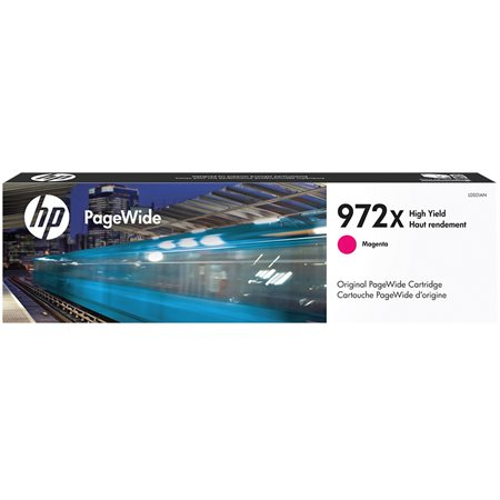 Cartouche jet d'encre HP 972X  PageWide magenta