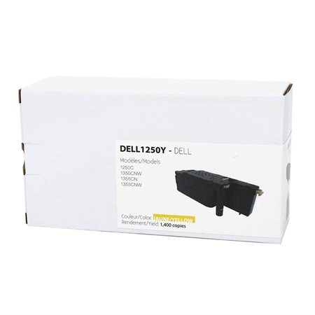 Cartouche de toner compatible Dell 125X jaune