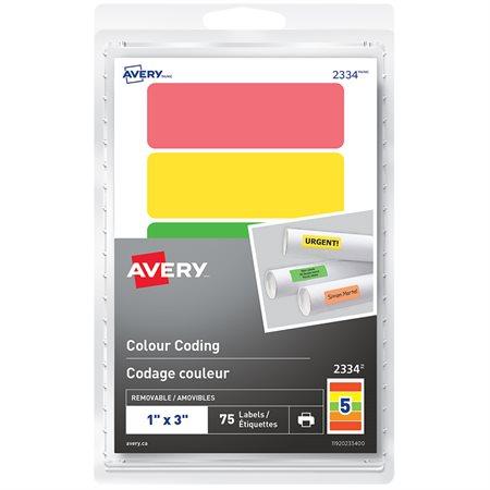 Étiquettes de codage couleur autoadhésifs