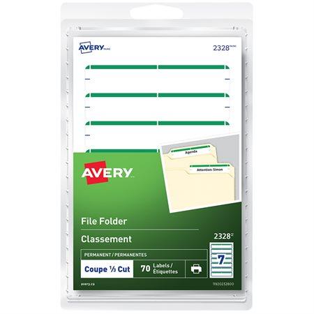 Étiquettes de classement autoadhésives vert