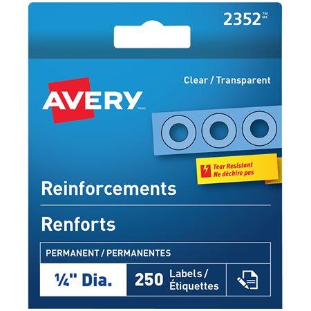Renforts autoadhésifs transparent (pqt 250)