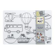 Napperon à colorier Funny Mat® véhicules