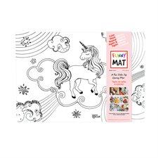Napperon à colorier Funny Mat® licorne
