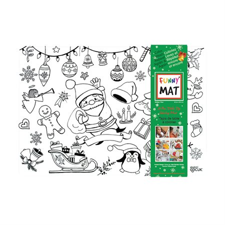 Napperon à colorier Funny Mat® Noël
