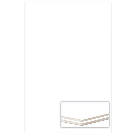 Carton mousse 1 / 8 po. 32 x 40 po, blanc