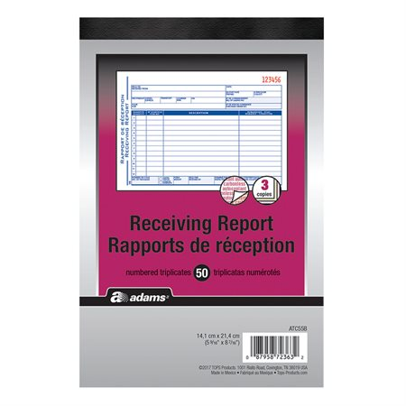 Receiving Report Forms Book