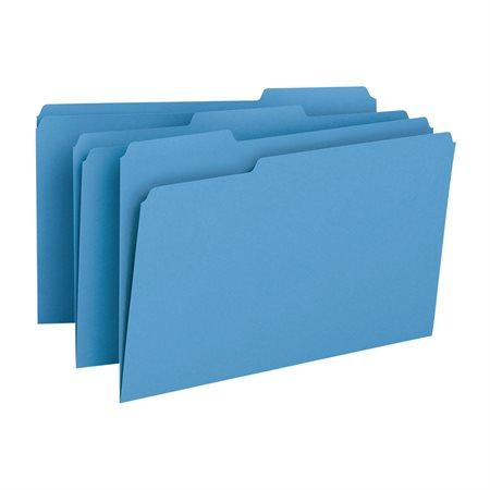 Chemises à dossier de couleur Format légal bleu